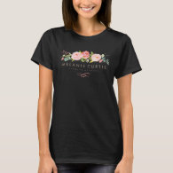 Rose Garden Floral Business Apron T-Shirt