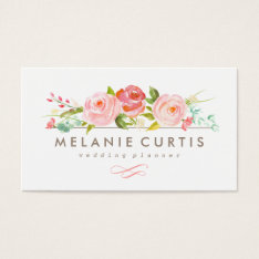 Rose Garden Floral Business Card at Zazzle