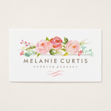 Professional Business Rose Garden Floral Business Card