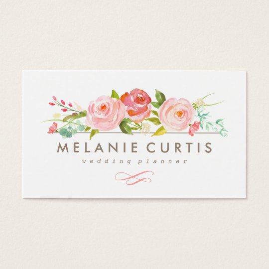 rose garden floral business card - Garden Design Business Cards