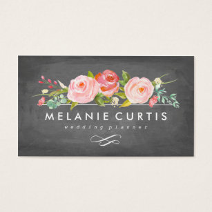 Gardening business cards templates zazzle rose garden floral chalkboard business card accmission Image collections