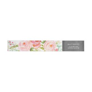 Rose Garden Floral Chalkboard Wrap Around Label