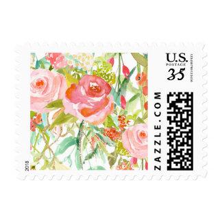 Rose Garden Floral Postage
