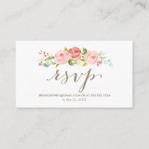 Rose Garden Floral Wedding Email RSVP Enclosure Card