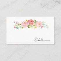 Rose Garden Floral Wedding Escort / Place Card