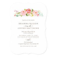 Rose Garden Floral Wedding Invitation at Zazzle