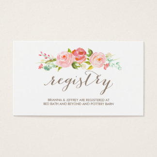 rose garden floral wedding registry card - Garden Design Business Cards