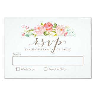 Rose Garden Floral Wedding RSVP Card