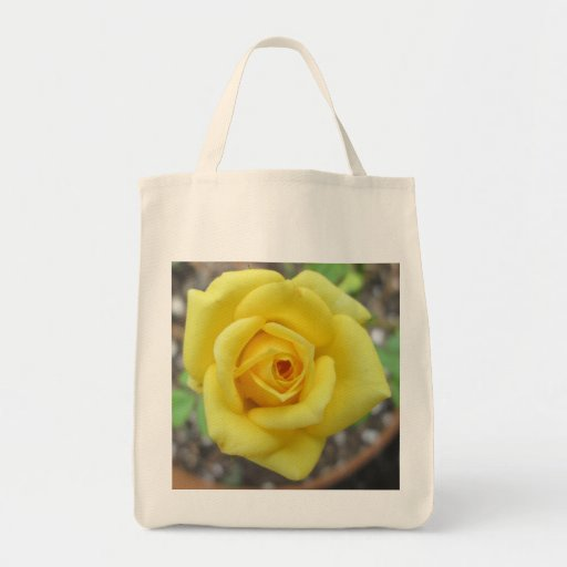 Rose Garden Flower Mini Yellow Tote Bags