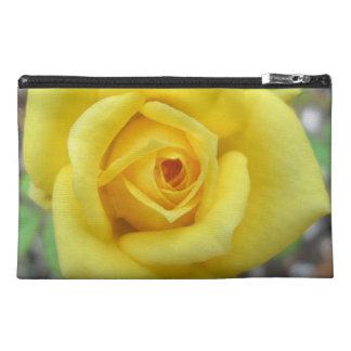 Rose Garden Flower Mini Yellow Travel Accessory Bag
