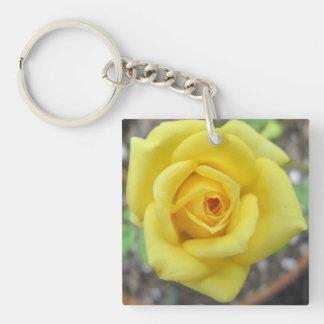 Rose Garden Flower Mini Yellow Acrylic Keychains