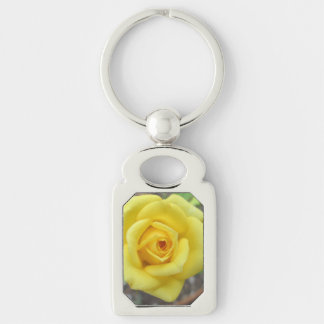 Rose Garden Flower Mini Yellow Key Chain