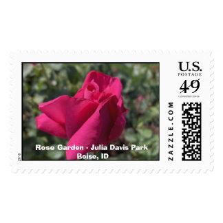 Rose Garden - Julia Davis Park Boise, Idaho Postage