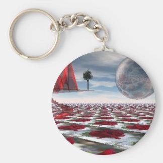 Rose garden keychain