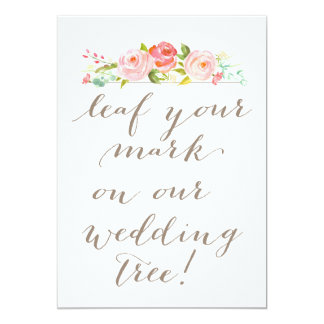 Rose Garden  Leaf Your Mark on our Wedding Tree Card