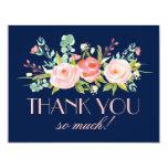 Rose Garden Midnight Blue | Thank You Card