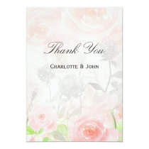 Rose Garden Modern Floral Thank You Card