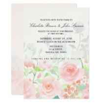 Rose Garden Modern Floral wedding invitations