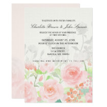 Rose Garden Modern Floral wedding invitations