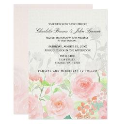 Rose Garden Floral Wedding Invitations