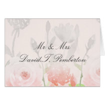 Rose Garden Modern Floral Wedding Place Cards