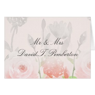 Rose Garden Modern Floral Wedding Place Cards
