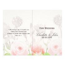 Rose Garden Modern Floral wedding program