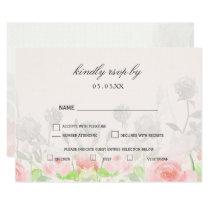 Rose Garden Modern Floral wedding rsvp Card