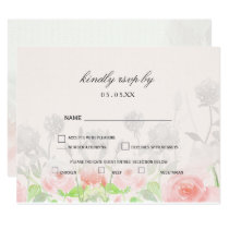Rose Garden Modern Floral wedding rsvp Card