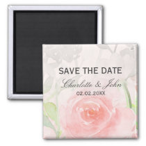 Rose Garden Modern Floral wedding save the Date Magnet