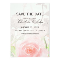 Rose Garden Modern Floral wedding save the dates Card