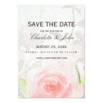 Rose Garden Modern Floral wedding save the dates Card