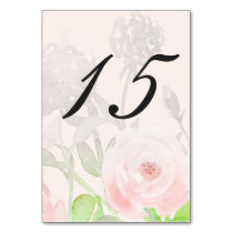 Rose Garden Modern Floral wedding table number Card