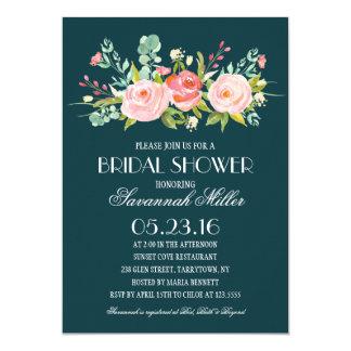 Rose Garden Navy | Bridal Shower Card