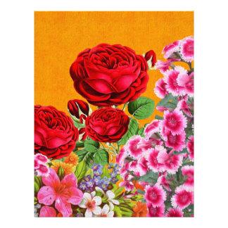 Rose Garden Orange Background Letterhead