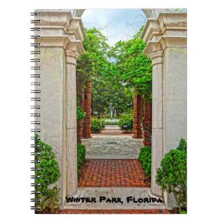 Rose Garden & Peacock Fountain Winter Park Florida Notebook