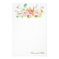 Rose Garden | Personalized Stationery at Zazzle