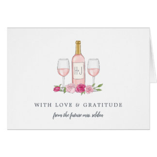 Rosé Garden Personalized Thank You Card