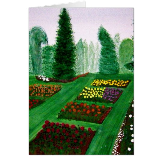 Rose Garden, Portland, Oregon watercolor painting. Card