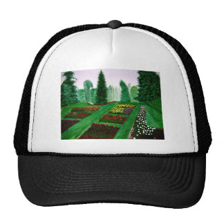 Rose Garden, Portland, Oregon watercolor painting. Trucker Hat