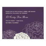 "Rose Garden Reception Card - Purple 4.25"" X 5.5"" Invitation Card"