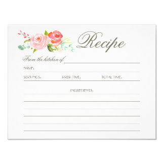 Rose Garden | Recipe Card