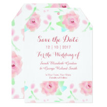 Rose Garden Retro Floral Save the Date Card