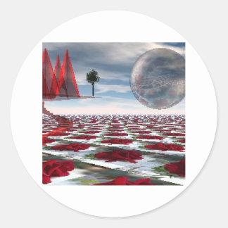 Rose garden round sticker