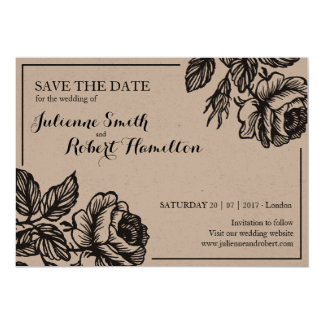 Rose Garden | Rustic Save the date Card