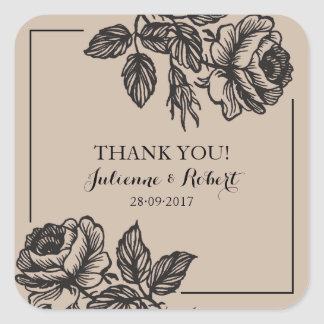 Rose Garden | Rustic Wedding Favor Stickers