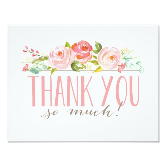 Rose Garden  Thank You Card  Zazzle