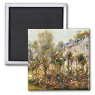 Rose Garden Wargemont by Renoir 2 Inch Square Magnet