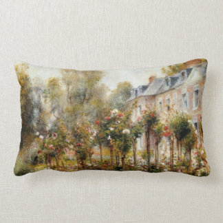 Rose Garden Wargemont by Renoir Lumbar Pillow