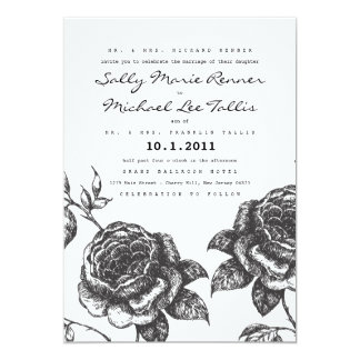 "Rose Garden Wedding Invitation 5"" X 7"" Invitation Card"